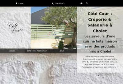 Capture d'écran du site de SARL la Barthe