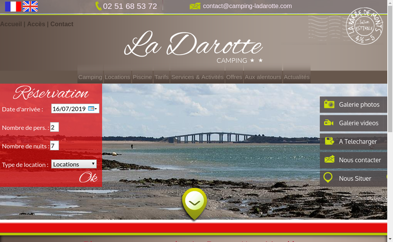 Capture d'écran du site de La Darotte