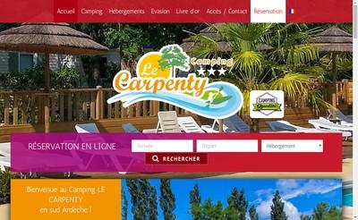 Site internet de Camping le Carpenty