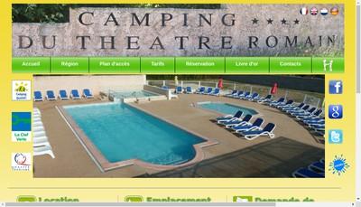 Site internet de Camping du Theatre Romain