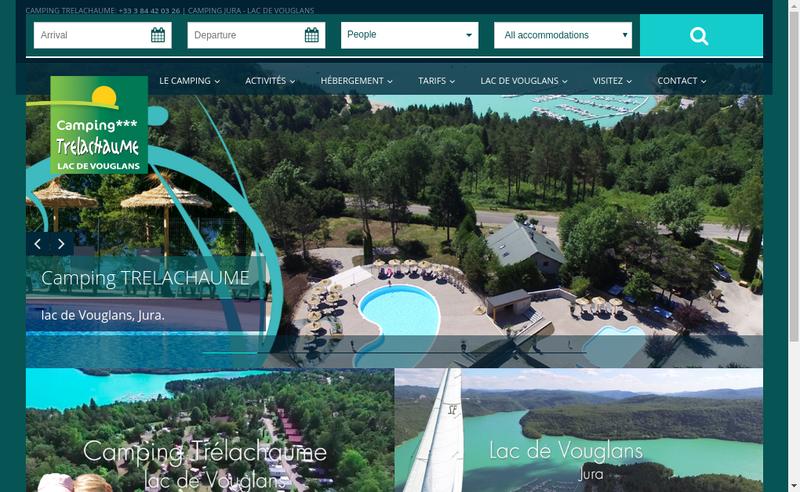 Capture d'écran du site de Camping Trelachaume