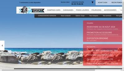 Site internet de Camping Cars Pierre