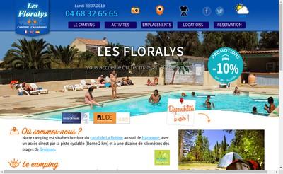 Site internet de Les Floralys