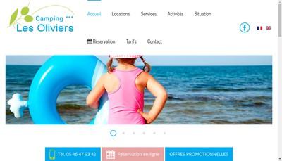 Site internet de Camping les Oliviers 17
