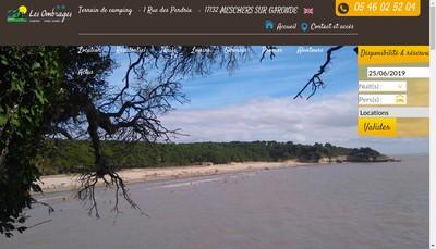 Site internet de Camping les Ombrages
