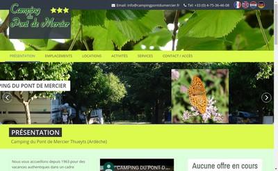 Site internet de SARL Camping du Pont de Mercier