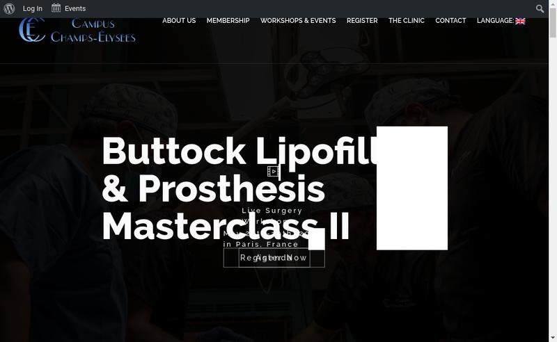 Capture d'écran du site de Campus Champs Elysees