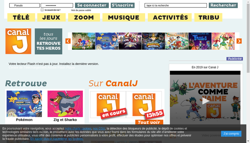 Capture d'écran du site de Lagardere Thematiques
