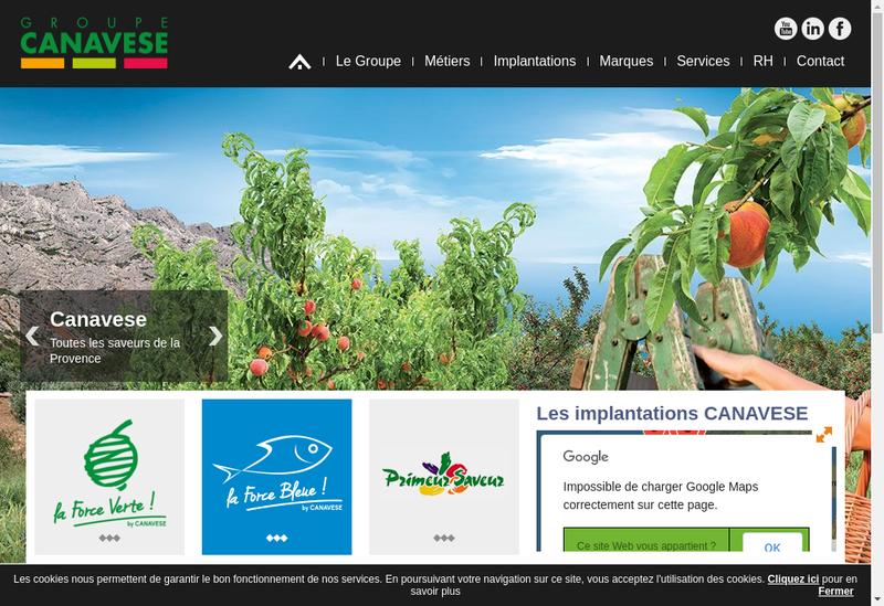 Capture d'écran du site de Canavese