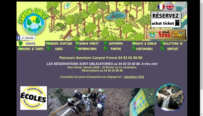 Site internet de Canyon Forest