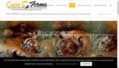 Site internet de Capa Forma