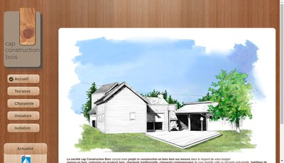 Site internet de Cap Construction Bois