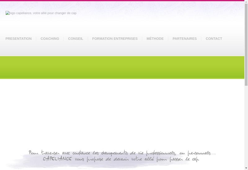 Capture d'écran du site de Cap&Rh Competences