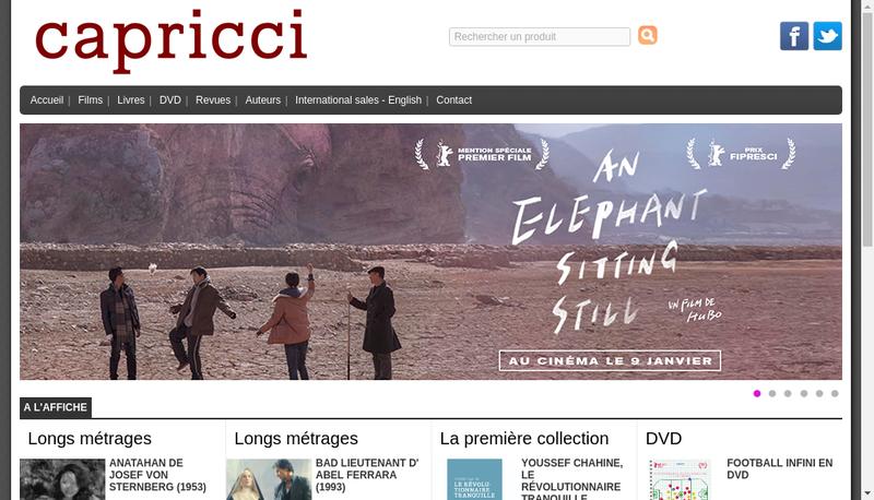 Capture d'écran du site de Capricci Editions