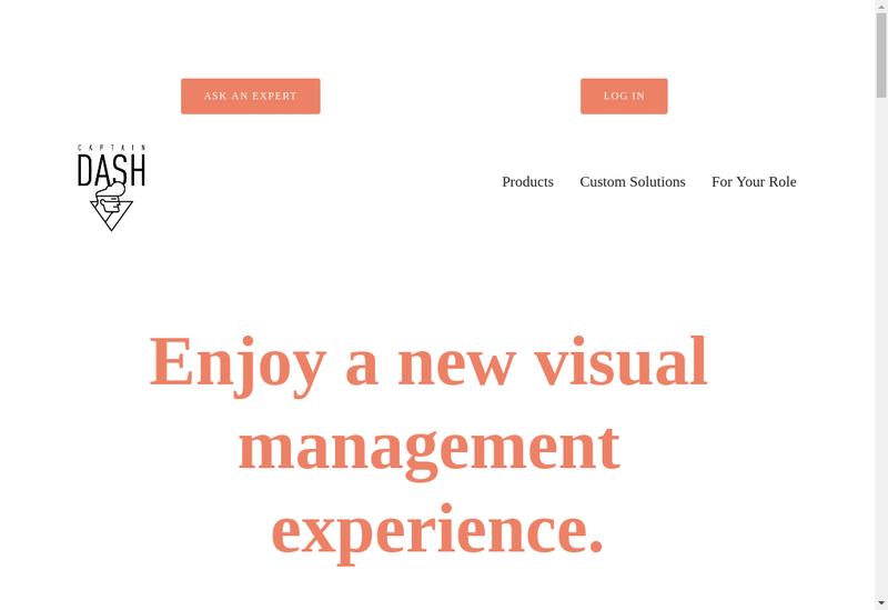 Capture d'écran du site de Captaindash