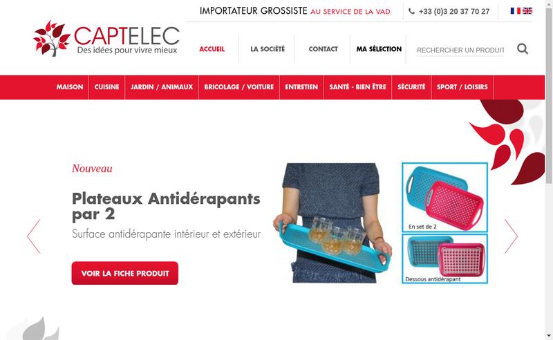 Capture d'écran du site de Captelec