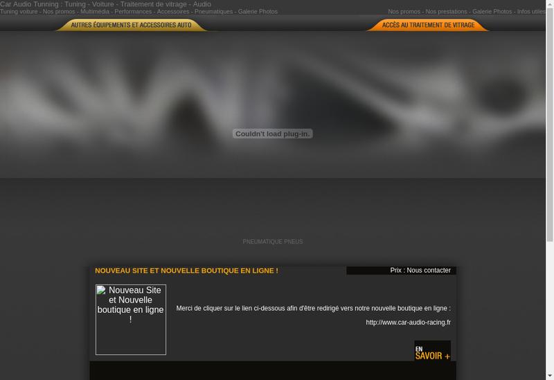 Capture d'écran du site de Carrosserie Robin