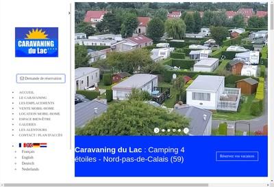 Site internet de Caravaning du Lac