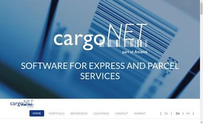 Site internet de Cargonet Software