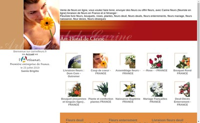 Site internet de Art Floral de Carine