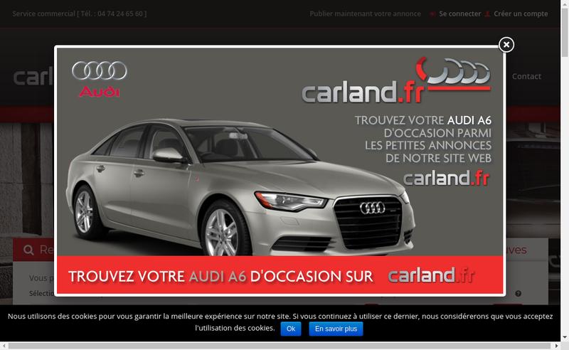 Capture d'écran du site de Car Land