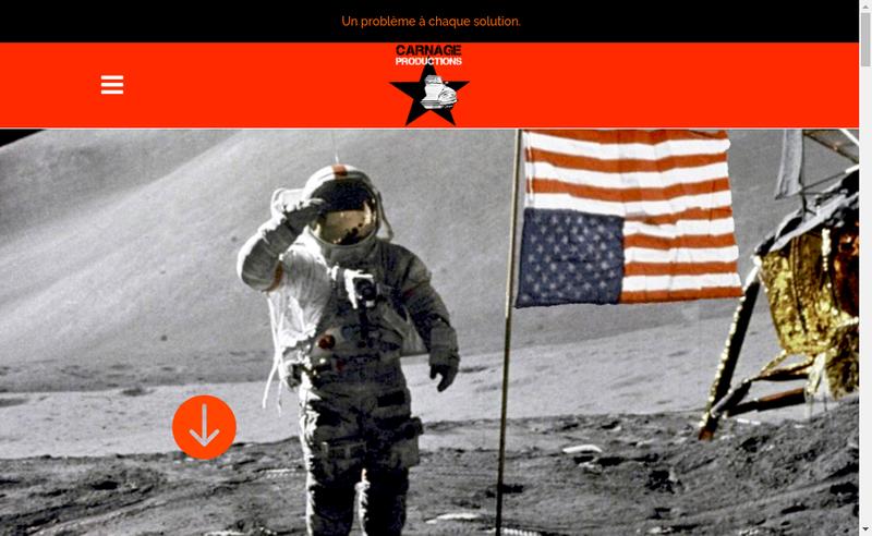 Capture d'écran du site de CARNAGE Productions