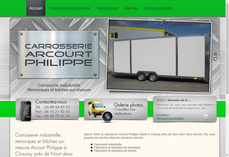 Capture d'écran du site de Arcourt Philippe