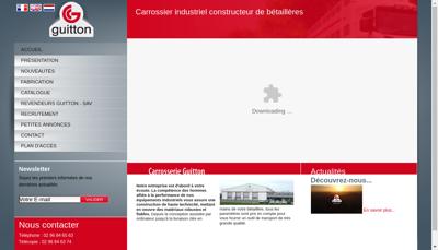 Capture d'écran du site de Carrosserie Guitton