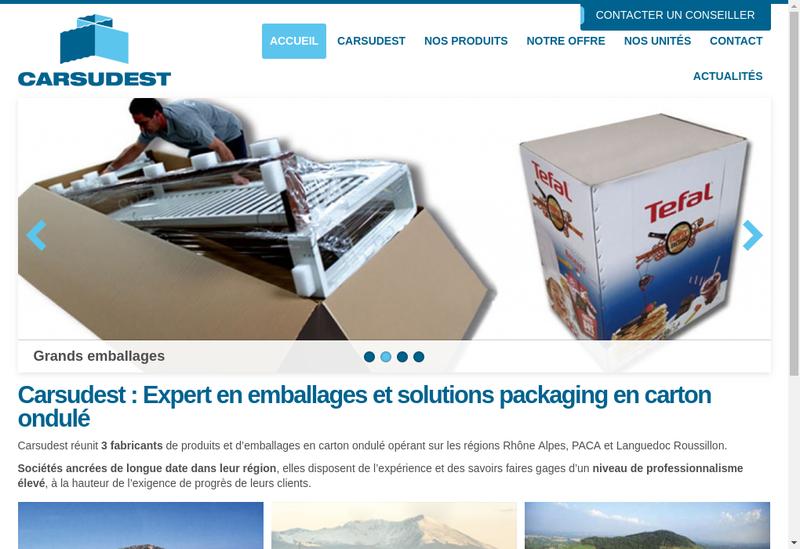 Capture d'écran du site de Cartembal