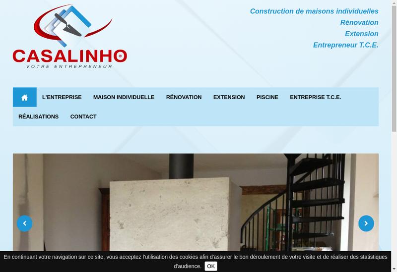 Capture d'écran du site de SARL Casalinho