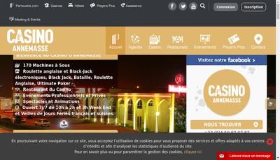 Site internet de Societe du Grand Casino d'Annemasse