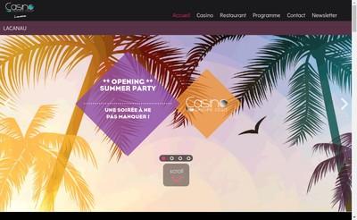 Site internet de Casino de Lacanau