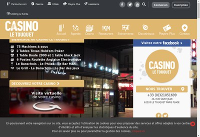 Site internet de Casino des 4 Saisons
