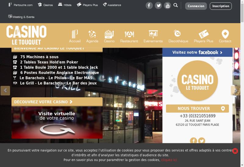 Capture d'écran du site de Casino des 4 Saisons