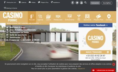 Site internet de Casino Pornic