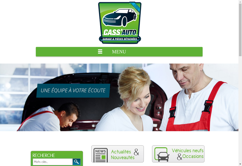 Capture d'écran du site de Cass'Auto