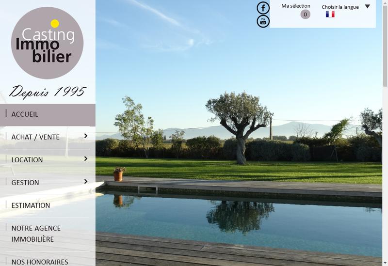 Capture d'écran du site de Casting Immobilier