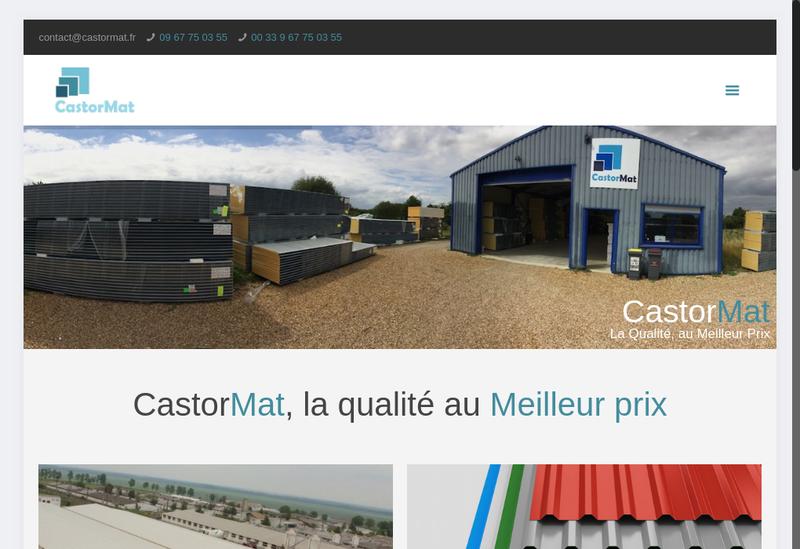Capture d'écran du site de Castormat
