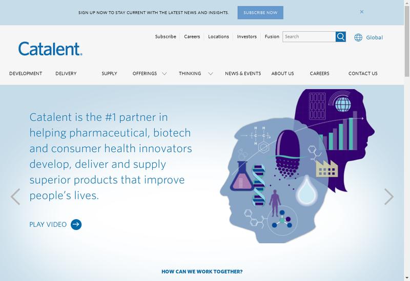 Capture d'écran du site de Catalent France Beinheim SA