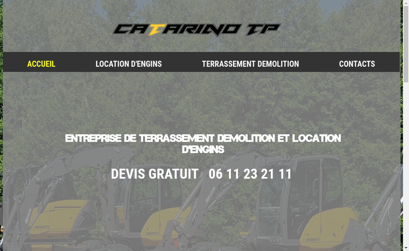 Capture d'écran du site de Catarino Tp