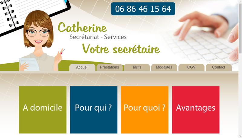 Capture d'écran du site de Catherine Secretariat Services