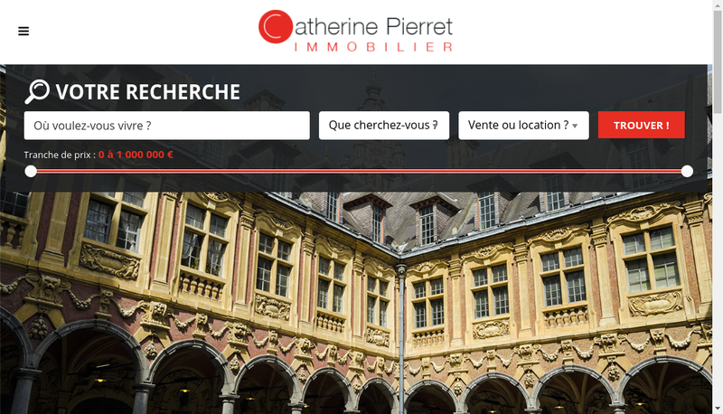 Capture d'écran du site de Catherine Pierret Immobilier