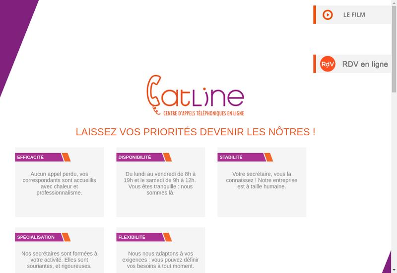 Capture d'écran du site de Catline
