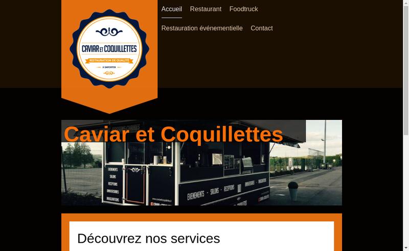 Capture d'écran du site de Caviar et Coquillettes