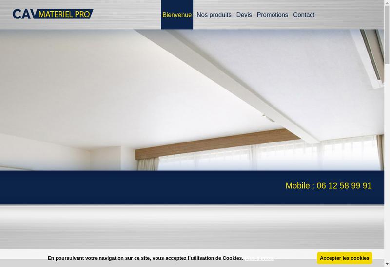 Capture d'écran du site de Cav Materiel Pro