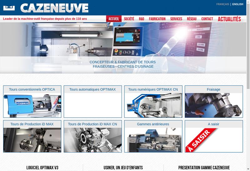 Capture d'écran du site de Cazeneuve