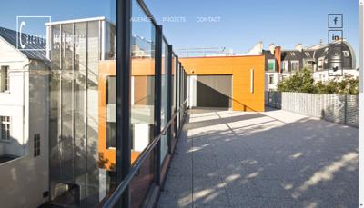 Capture d'écran du site de Cazenove Architectes