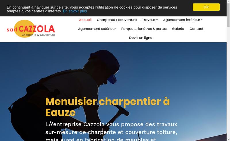 Capture d'écran du site de Cazzola