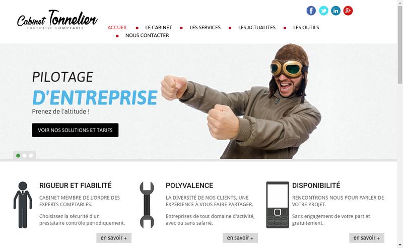 Capture d'écran du site de Cabinet Benoit Tonnelier