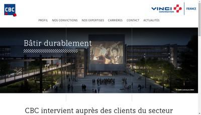 Site internet de Campenon Bernard Construction